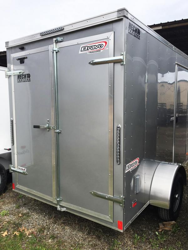 "2019 Bravo Trailers 6X10 SC SA 6""X APP SILVER Enclosed Cargo Trailer"