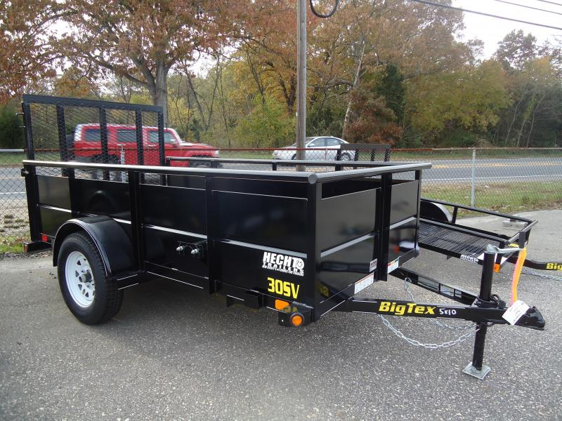 2017 Big Tex Trailers UT-5X10 30SV-10BK4RG BLACK Utility Trailer