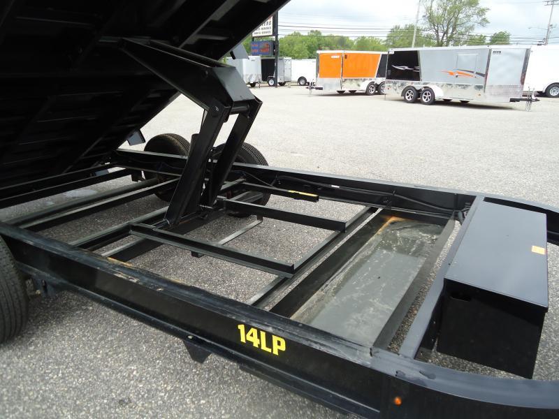 2018 Big Tex Trailers DT 7X14 14LP 14BK 7SIRPD TARP BLACK Dump Trailer