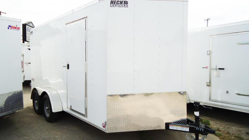 2020 Bravo Trailers 7X14 SC TA2 30V 6X APP WHITE Enclosed Cargo Trailer