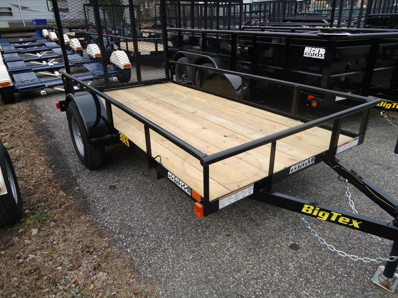 2019 Big Tex Trailers UT 5X10 30ES 10BK 4RG ECONO BLACK Utility Trailer