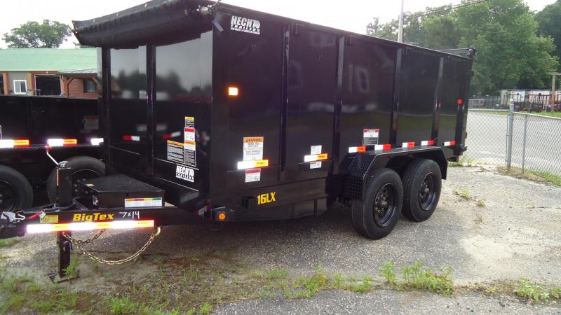 2020 Big Tex Trailers DT 7X14 16LX 14BK RAMPS P4 BLACK Dump Trailer