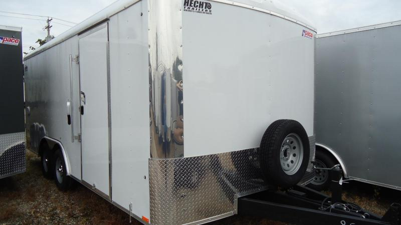 """2020 Pace American 8.5X18 CLS TE2 18""""XA RAMP SVNT WHITE Enclosed Cargo Trailer"""
