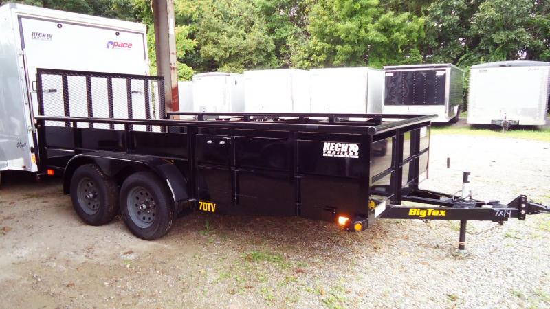 2020 Big Tex Trailers UT 7X14 70TV 14BK 4RG BLACK Utility Trailer