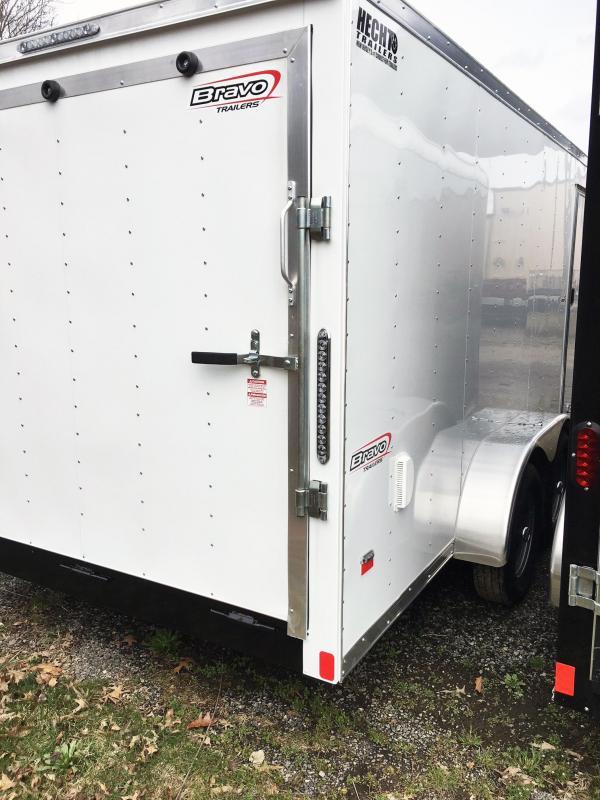 "2019 Bravo Trailers 7X16 ST TA2 30""V RAMP APP WHITE Enclosed Cargo Trailer"