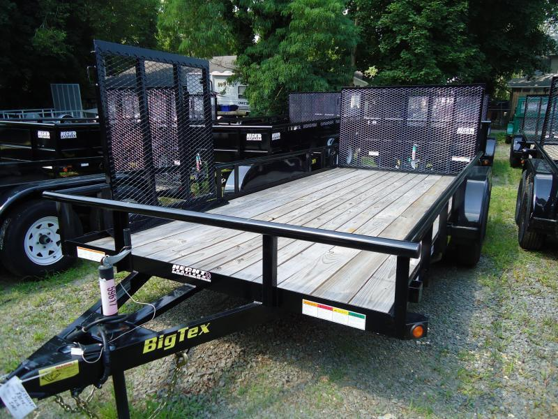 2019 Big Tex Trailers UT 7X18 70PI 18XBK4RG 4' SIDE GATE BLACK Utility Trailer