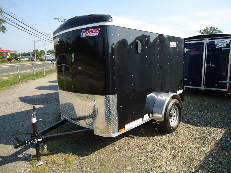 2018 Pace American 5X8 JT SI2 FDJXS SVNTS BLACK Enclosed Cargo Trailer