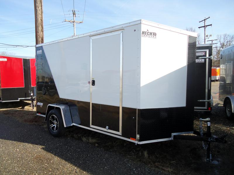 "2020 Pace American 6X12 JVSE SI2 24""VS 6""X RAMP SVNTS DRNG WHITE & BLACK Enclosed Cargo Trailer"