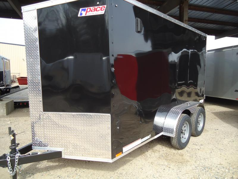"2020 Pace American 6X12 JVSE TE2 24""VS 6""X SVNTS BLACK Enclosed Cargo Trailer"