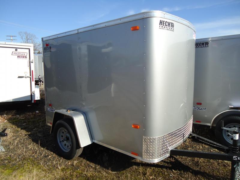 2019 Pace American 5X8 OB SI2 STAB JACKS DRNG SILVER Enclosed Cargo Trailer