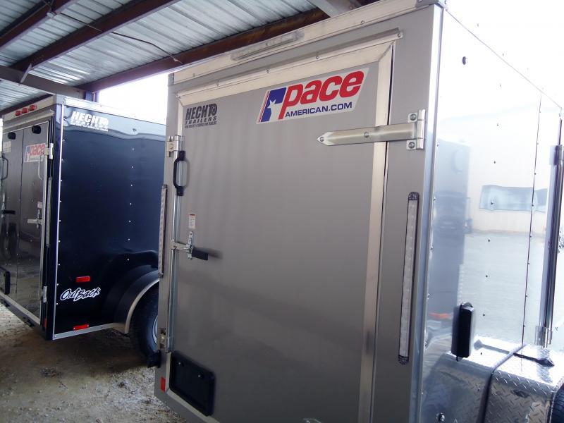 2020 Pace American 5X8 OBDLX SI2 24VS SD SVNTS SILVER Enclosed Cargo Trailer