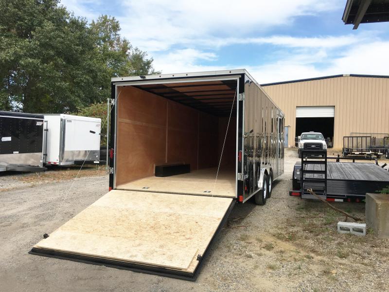 2018 Haulmark 8.5X24 PPT WT3 RAMP BLACK Enclosed Cargo Trailer
