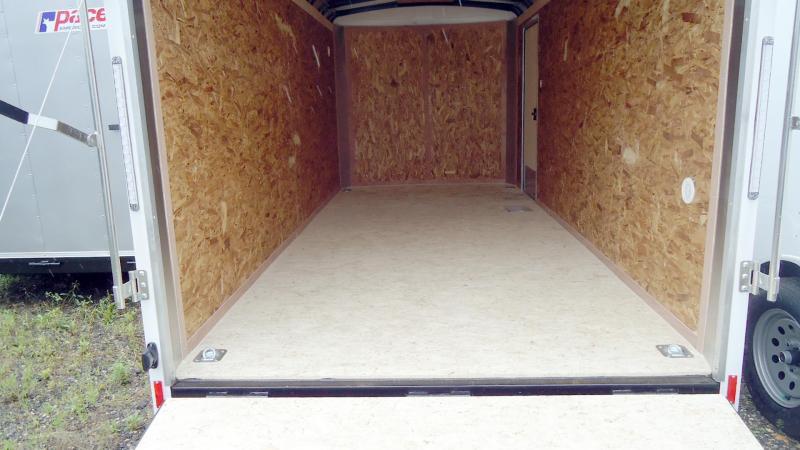 "2020 Pace American 7X16 OBDLX TE2 6""X RAMP SVNT WHITE Enclosed Cargo Trailer"