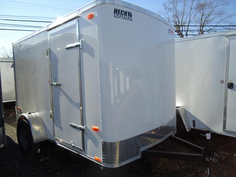 2019 Pace American 6X10 OB SI2 RAMP WHITE Enclosed Cargo Trailer