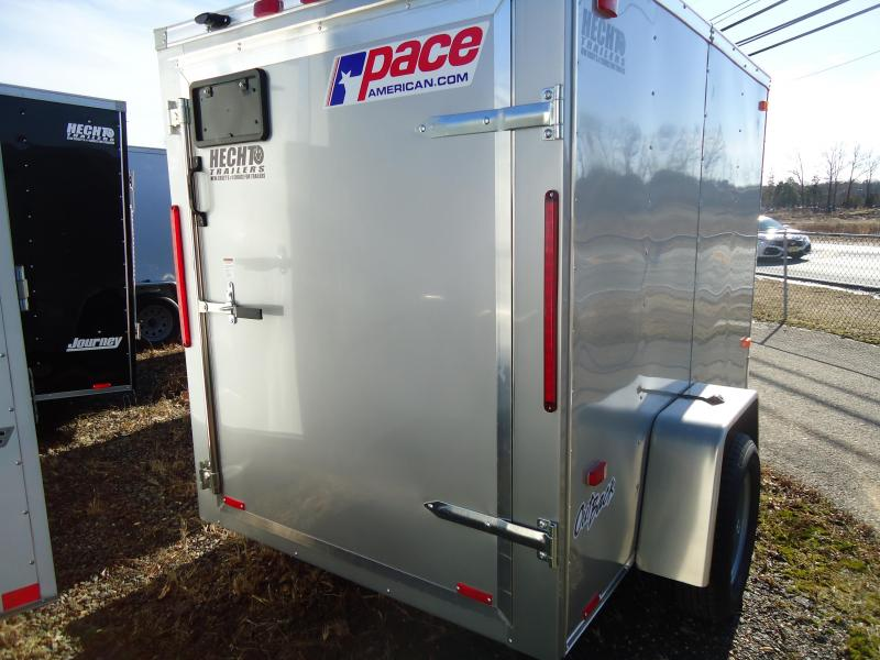 2020 Pace American 5X8 OB SI2 FD STAB JCKS SILVER Enclosed Cargo Trailer