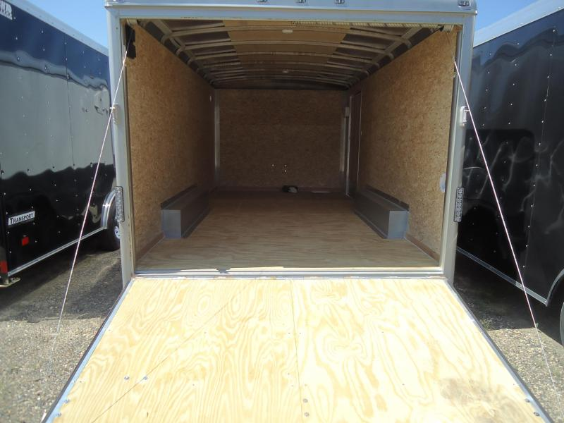 WELLS CARGO 7'9'X16 EW 7700 RAMP SPARE LS PKG WHITE Enclosed Cargo Trailer