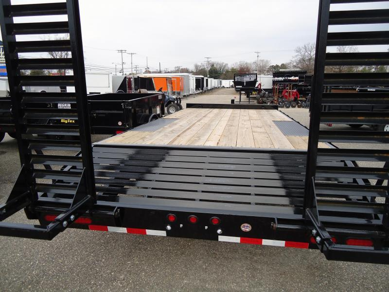 2019 Big Tex Trailers EH 8.5X22 14OA 193BK DT BLACK Equipment Trailer