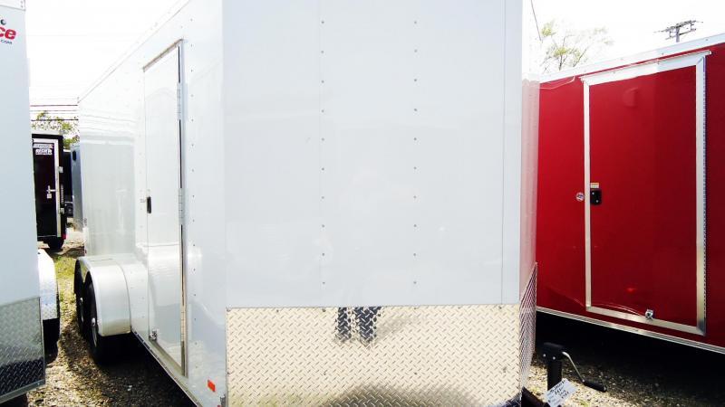 2020 Bravo Trailers 7X16 SC TA2 30V 6X RAMP APP WHITE Enclosed Cargo Trailer