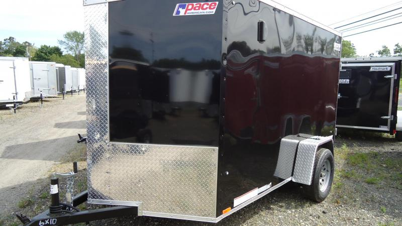 2020 Pace American 6X10 JVSE SI2 24VS RAMP SVNT BLACK Enclosed Cargo Trailer