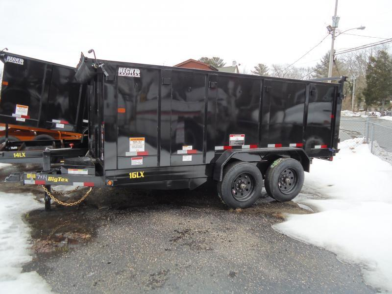 2019 Big Tex Trailers DT 7X16 16LX 16BK SIR P4 TARP BLACK Dump Trailer