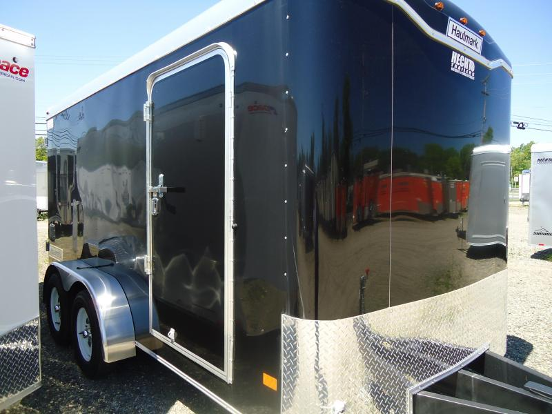 "2018 Haulmark 7X14 KD WT2 12""X TUNG BLACK Enclosed Cargo Trailer"