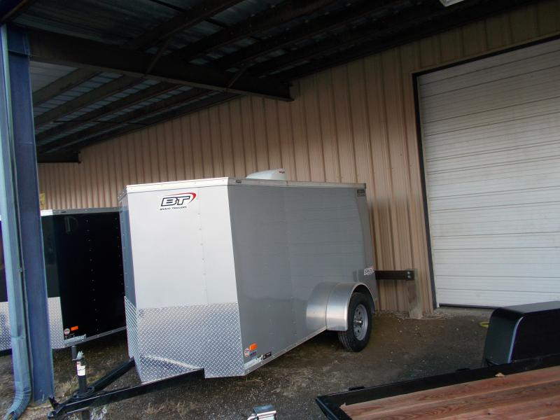 2019 Bravo Trailers 5X10 SC SA V RAMP MINI VNT APP SILVER Enclosed Cargo Trailer