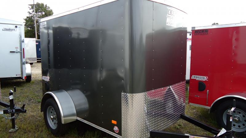 "2019 Bravo Trailers 5X8 SC SA 6""X RAMP APP CHARCOAL Enclosed Cargo Trailer"