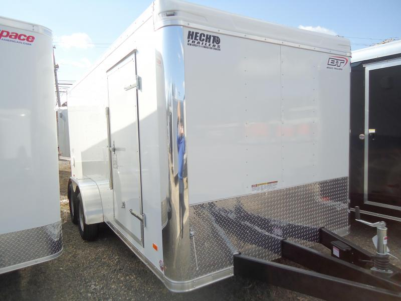 2019 Bravo Trailers 7X16 ST TA2 RAMP LANDSCAPE PKG WHITE Enclosed Cargo Trailer
