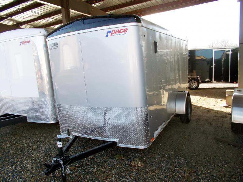 2019 Pace American 6X12 JT SI2 SVNTS SILVER Enclosed Cargo Trailer