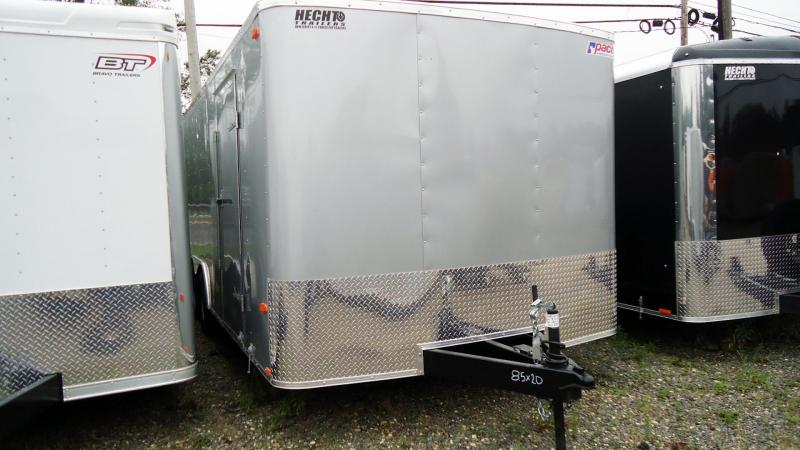 2020 Pace American 8.5X2 OB TE2 RAMP SVNTS SILVER Car / Racing Trailer