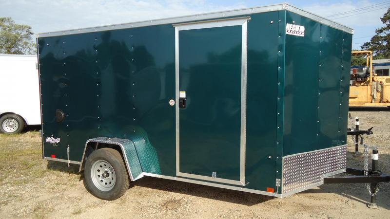 2020 Pace American 6X12 OBDLX SI2 24VS SVNT GREEN Enclosed Cargo Trailer