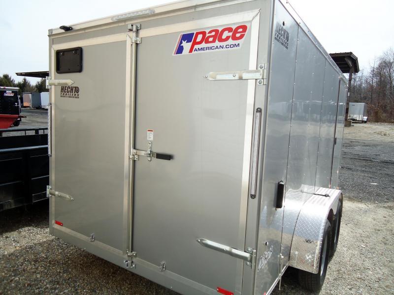 2020 Pace American 7X14 OBDLX 30VS SVNTS SILVER Enclosed Cargo Trailer