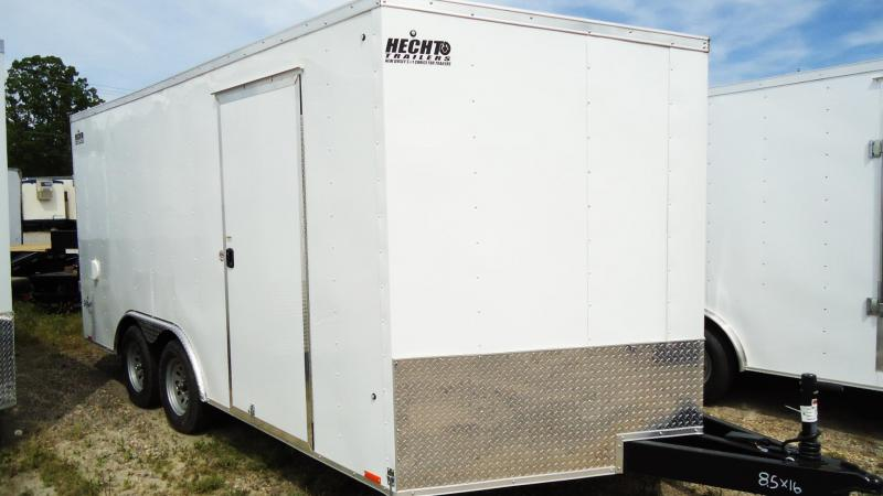 2020 Pace American 8.5X16 OBDLX TE2 30VS 18 TUNG RAMP SVNTS WHITE Enclosed Cargo Trailer