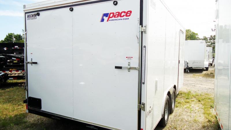 2020 Pace American 8.5X16 OBDLX TE2 30VS 18 TUNG RAMP SVNTS WHITE Enclosed Cargo Trailer