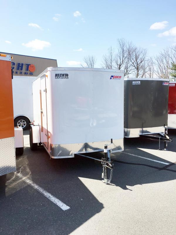 2019 Pace American 6X12 OB SI2 WHITE Enclosed Cargo Trailer