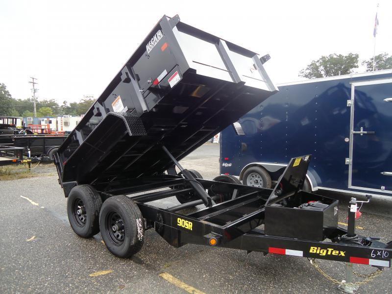 2020 Big Tex Trailers DT 6X10 90SR 10BK 7SIR BLACK Dump Trailer