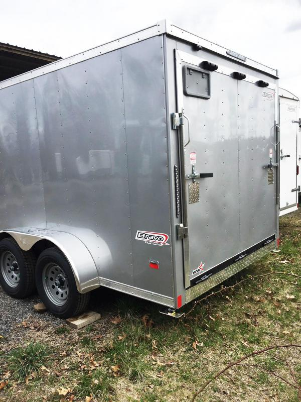 2019 Bravo Trailers 7X14 ST TA2 LANDSCAPE HD RAMP ADJ CUP SILVER Enclosed Cargo Trailer