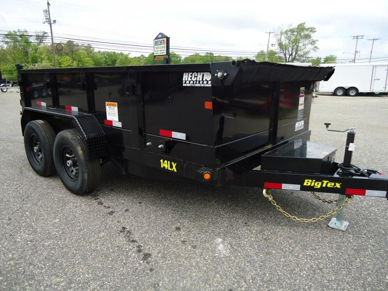 2019 Big Tex Trailers DT 7X12 14LX 12BK 7SIRPD TARP BLACK Dump Trailer