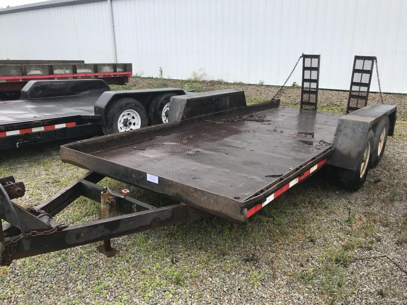 1990 Imperial 7x16 Steel Deck Flatbed Equipment Trailer
