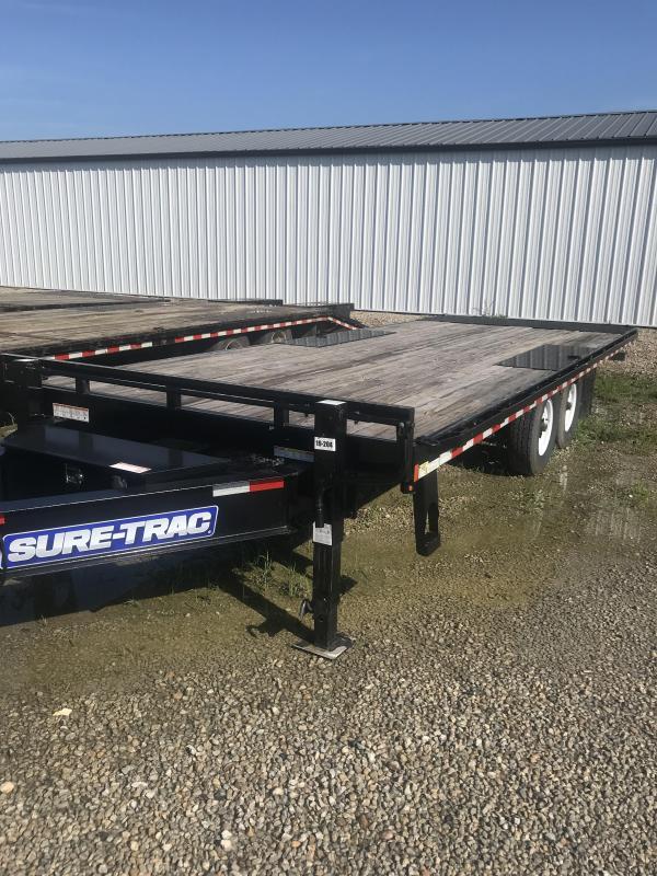 2017 Sure-Trac 85x22 Hydraulic Deckover Flatbed Flatbed Trailer