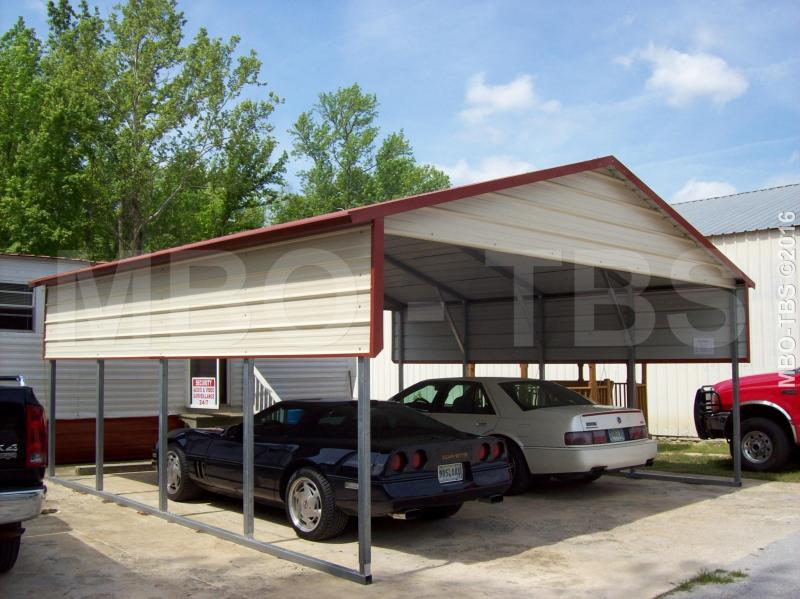 22X20X8 VERTICAL CARPORT #CP044