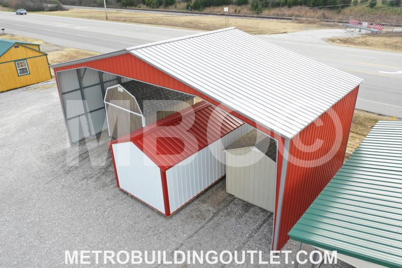 40X20X14 Vertical Roof Carport #CP040