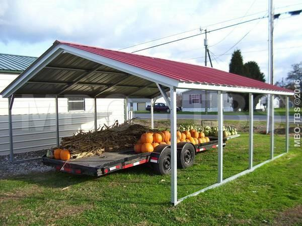 18X20X6 VERTICAL BOXED EAVE CARPORT #CP065