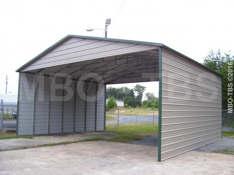 30X25X12 Vertical Roof Carport #CP013