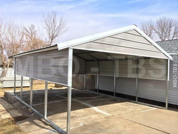 18X20X7 VERTICAL BOXED EAVE CARPORT #CP073