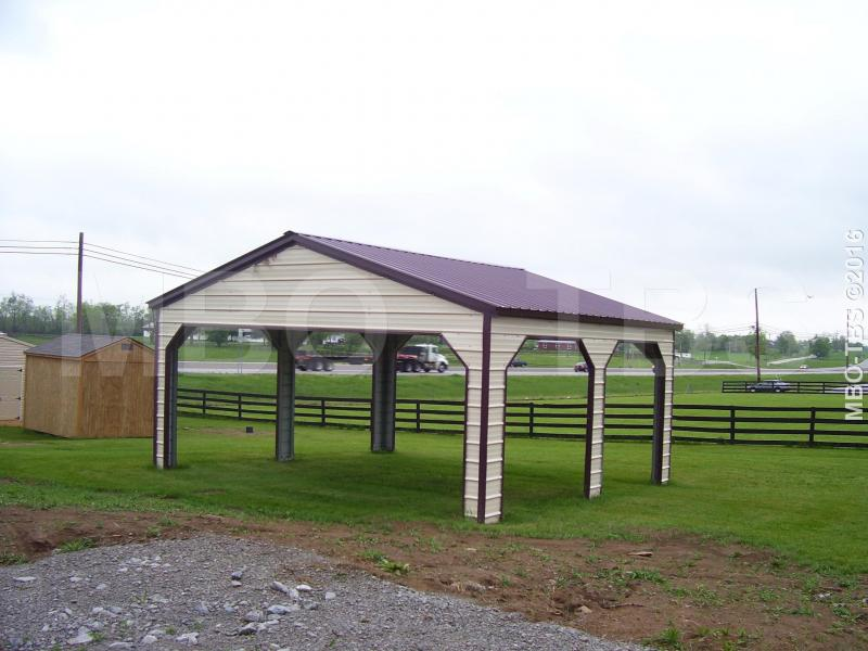 24X25X9 Vertical Roof Carport #CP012