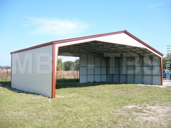 40X28X10 Vertical Roof Carport #CP022