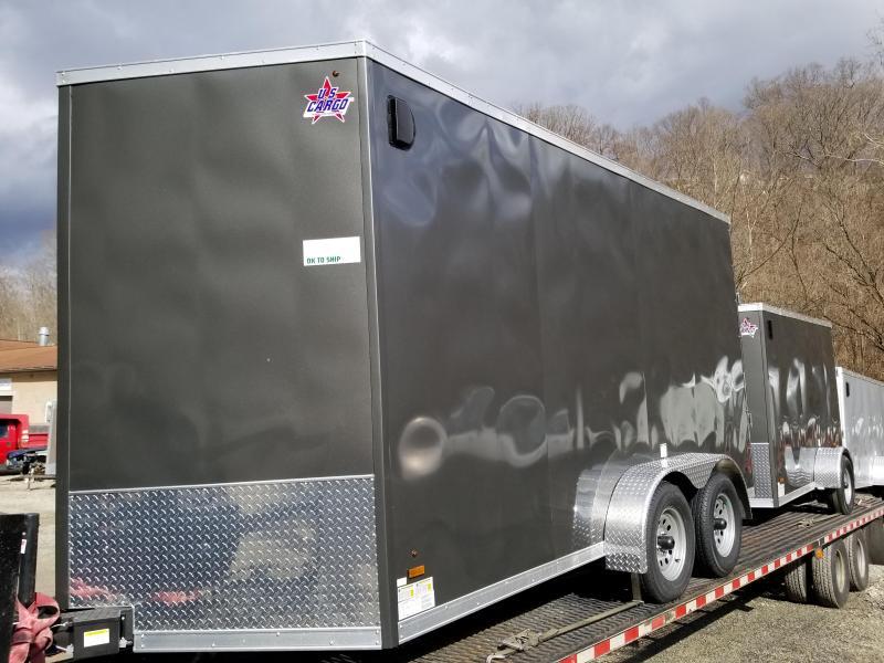 2019 US Cargo 7x14 ULAFT Ramp Door 12'' Extra Height Enclosed Cargo Trailer