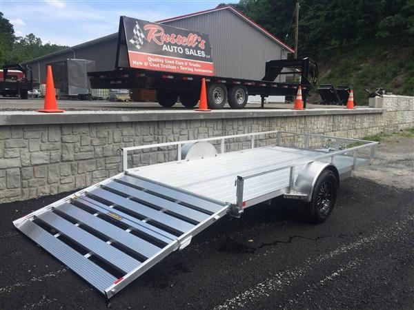 H and H Trailer RSA 8x12 Aluminum Trailer w/ Extruded Deck