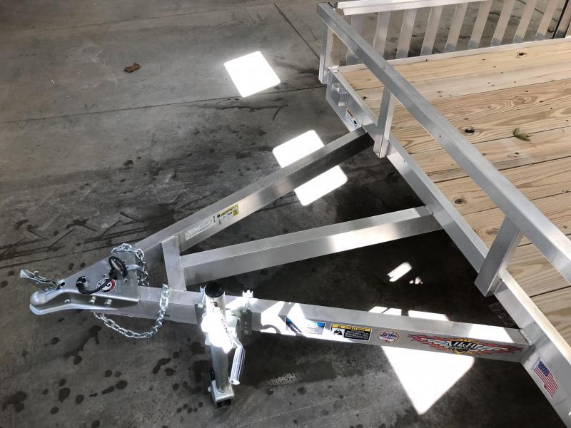 """H&H 82""""X14' RAILSIDE ALUMINUM ATV TRAILER 3K"""